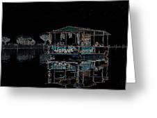Boat Restaurant Greeting Card by Vijinder Singh