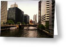 Boat Ride On The Chicago River Greeting Card