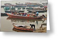 The Journey - Varanasi India Greeting Card