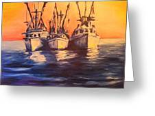 Boat Series 1 Second Edition Greeting Card