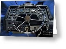 Boat Steering Wheel Greeting Card