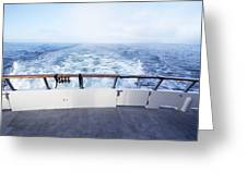 Boat Stern Greeting Card