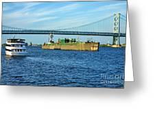 Boat Traffic Greeting Card