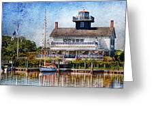 Boat - Tuckerton Seaport - Tuckerton Lighthouse Greeting Card