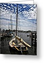 Boat Under The Clouds Greeting Card