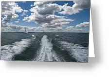 Boat Wake 01 Greeting Card