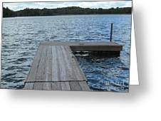 Boatdock-right Greeting Card