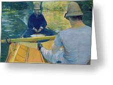 Boaters On The Yerres Greeting Card