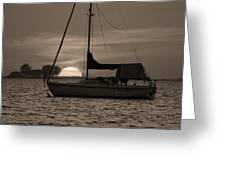 Boater's Sunset Greeting Card