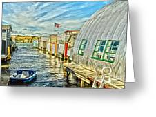Boathouse Alley Greeting Card