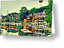 Boathouse Color Greeting Card