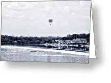 Boathouse Row And The Zoo Balloon Greeting Card