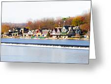 Boathouse Row In Autumn Greeting Card