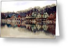 Boathouse Row Philadelphia Greeting Card