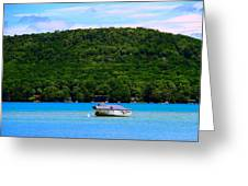 Boating At Sleeping Bear Dunes Lake Michigan Greeting Card