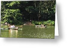 Boating In Central Park Greeting Card