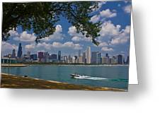 Boating In Chicago  Greeting Card