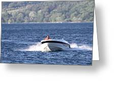 Boating On Grand Traverse Bay Greeting Card