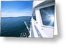 Boating On Lake Greeting Card