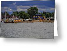 Boating On Lake Erie Greeting Card