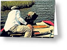 Boating On The Bay Greeting Card by Scott Allison