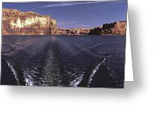 Boating On The Colorado River In Glen Canyon Utah Usa Greeting Card