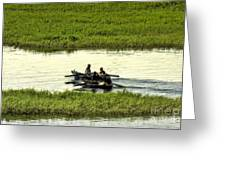 Boating On The Nile River Greeting Card