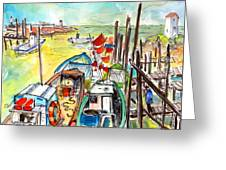 Boats And Boardwalks By Brittany 02 Greeting Card