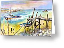 Boats And Boardwalks By Brittany 01 Greeting Card