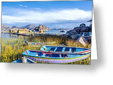 Boats And Floating Islands Greeting Card