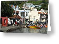 Boats And Telephones Greeting Card