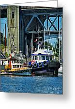 Boats And Tugs Hdrbt3221-13 Greeting Card