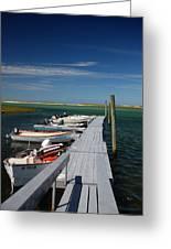 Boats At Bass Hole  Greeting Card