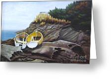 Boats At Berry Point Greeting Card