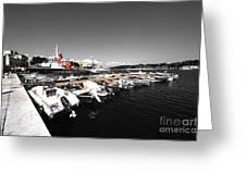 Boats At Brindisi Greeting Card