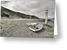 Boats At Bude  Greeting Card
