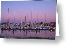 Boats At Dusk 1 Greeting Card