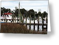 Boats At Little River Greeting Card
