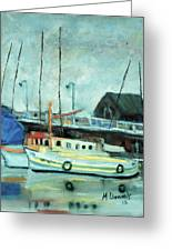 Boats At Provincetown Ma Greeting Card