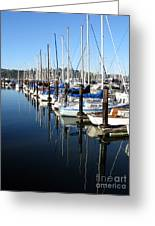 Boats At Rest. Sausalito. California. Greeting Card