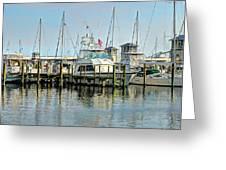 Boats At The Marina Greeting Card
