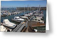 Boats At The San Francisco Pier 39 Docks 5d26004 Greeting Card