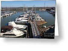 Boats At The San Francisco Pier 39 Docks 5d26005 Greeting Card