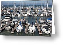Boats At The San Francisco Pier 39 Docks 5d26009 Greeting Card