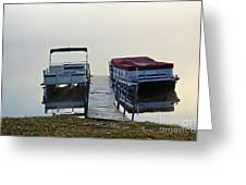 Boats By The Dock Greeting Card