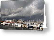 Boats In A Marina Greeting Card