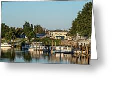 Boats In A River, Walnut Grove Greeting Card