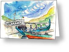 Boats In Barca De Alva 02 Greeting Card