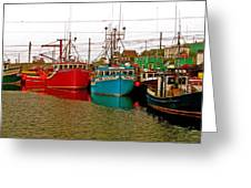 Boats In Branch Marina-nl Greeting Card
