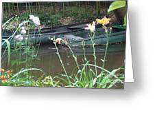 Boats In Giverny Greeting Card